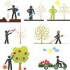 stylized scenes in the life of a fruit tree