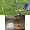 Figure 1. A. Medición de la altura del forraje. B. Recolección de muestras en el campo. C. Pesaje de muestras secasb