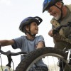 Figure 3. A bike ride with your child is great way to show him or her how to lead an active lifestyle.