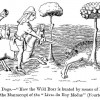 Figure 3. Hunting wild pigs with dogs dates back to the 14th century.