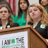 4-H youth leader speaking at podium