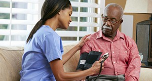 People with diabetes are at high risk for high blood pressure.