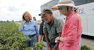 Participants on a farm tour in Santa Rosa county