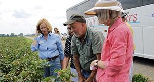 Participants on a farm tour in Santa Rosa county