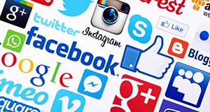 Examples of several social media platforms
