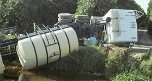 Figure 2. A large spill into a canal is especially serious.