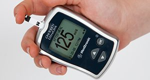 Hand held electronic diabetes monitoring devices. Metabolic diseases, blood sugar. Image used in the 2012 Annual Research Report.