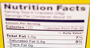 New Trans Fat info on labels.