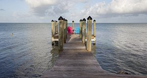 A pier in the Florida Keys.