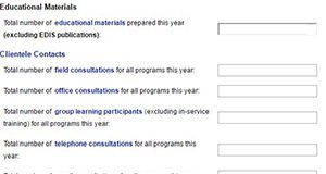 Figure 1. Screenshot of the Workload Reporting Categories section in Workload. Credits: UF/IFAS Program Development and Evaluation Center