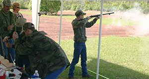 UF/IFAS Extension 4-H archery and flintlock shooting tournament. April 2005 at 4-H Camp Ocala.