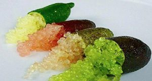 finger limes cut open to reveal caviar pulp