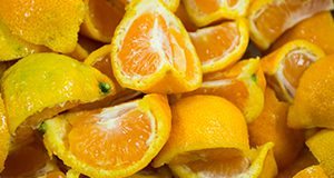 Slices and wedges of oranges. Photo taken 11-08-15