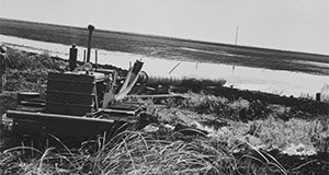 Farm equipment at a rice paddy. Photos from the Smathers Archives.