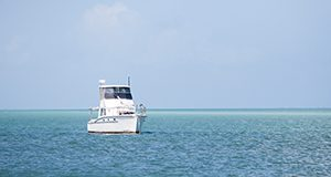 A boat off the coast of the Florida Keys. Photo taken 03/02/15.