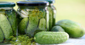 Pickled cucumbers, homemade preserves