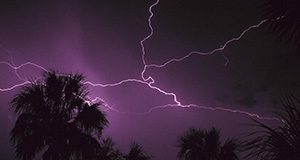 Through its Hurricane Preparedness for Hotels and Motels Program, the Florida Energy Extension Service helps the tourist industry keep guests safe during lighting storms.