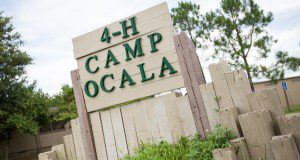 4H Camp Ocala sign.  Photo Credits:  UF/IFAS Photo by Lyon Duong
